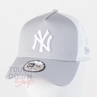 Casquette NY New York Yankees MLB clean trucker 2 9FORTY New Era gris