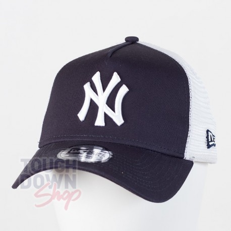 Casquette NY New York Yankees MLB clean trucker 2 9FORTY New Era navy - Touchdown Shop