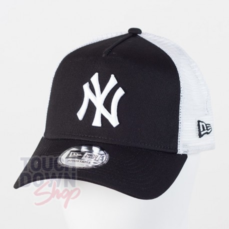 Casquette NY New York Yankees MLB clean trucker 2 9FORTY New Era noire - Touchdown Shop