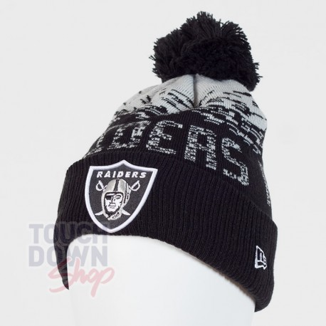 Bonnet Oakland Raiders NFL sport knit cuff New Era - Touchdown Shop