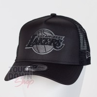 Casquette Los Angeles Lakers NBA tonal black AF 9FORTY Trucker New Era