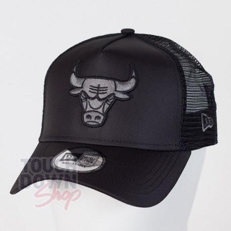 Casquette Chicago Bulls NBA tonal black AF 9FORTY Trucker New Era - Touchdown Shop