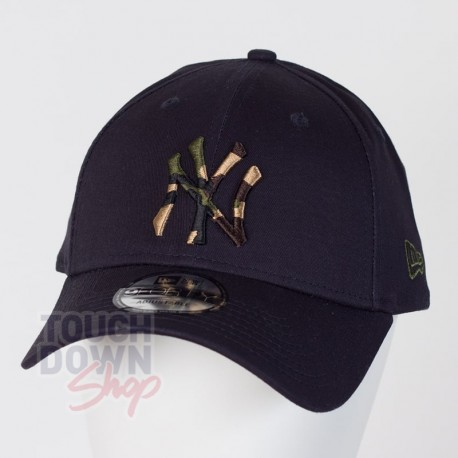 Casquette NY New York Yankees MLB camo infill 9FORTY New Era Navy - Touchdown Shop