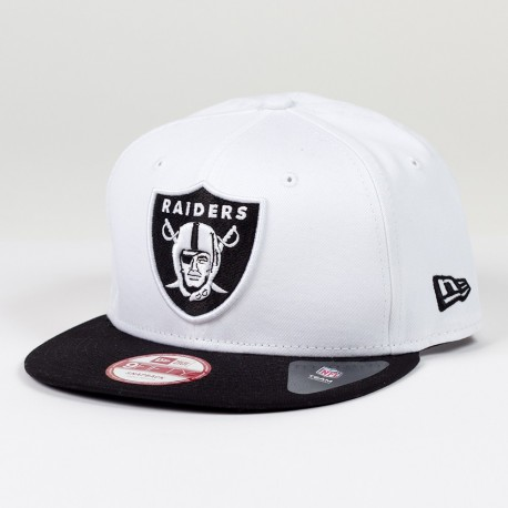 Casquette New Era 9FIFTY snapback Two Color Team NFL Oakland Raiders White - Touchdown shop